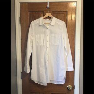 Caslon tunic style button down